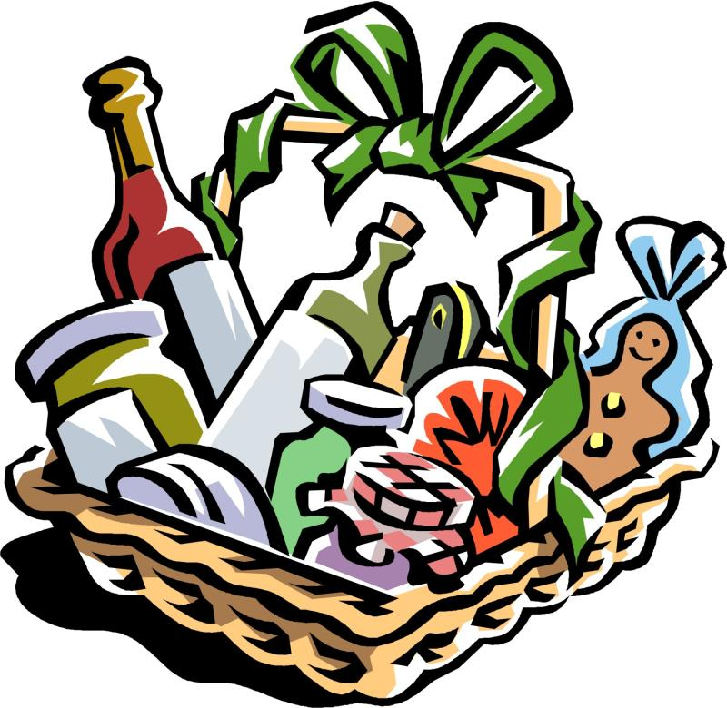 basket raffle Christmas food baskets clip art ourclipart jpg