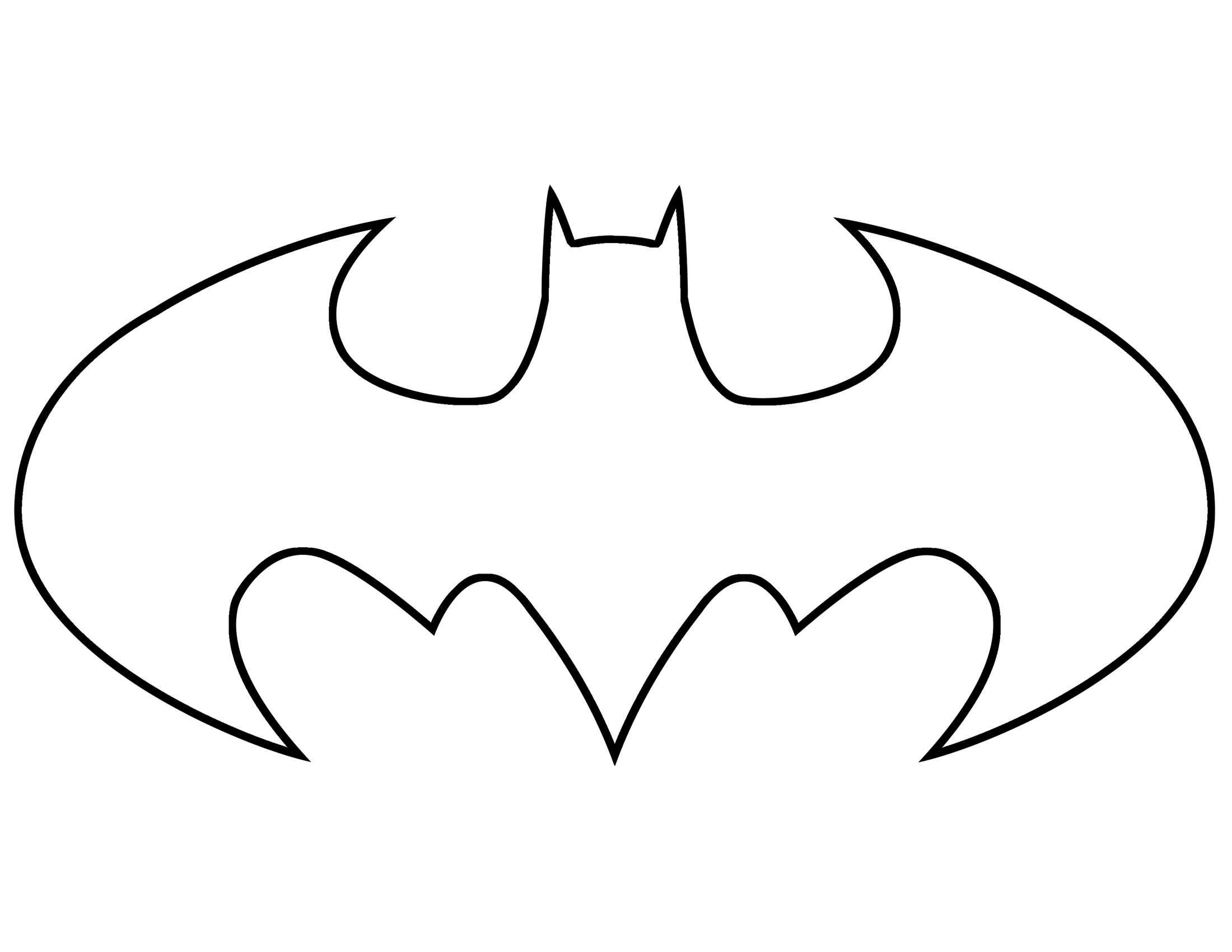 batman outline Batman symbol outline free download clip art jpg