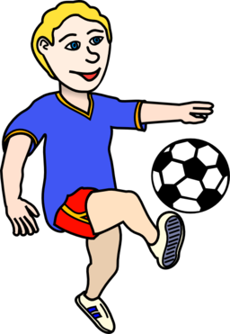 boy playing Soccer playing boy coloured clipart i2clipart free png