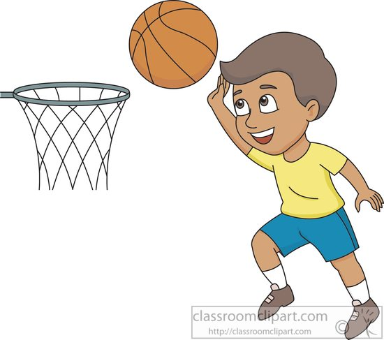 boy playing Basketball clipart boy shooting hoops basketball clipart jpg