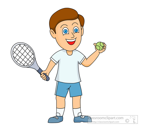 boy playing Tennis clipart oy holding a tennis racquet and jpg