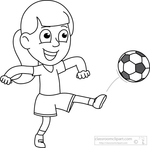 boy playing Soccer clipart black and white drawing of a boy is playing jpg