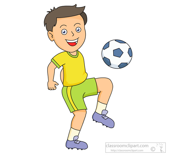 Boy playing soccer clipart jpg
