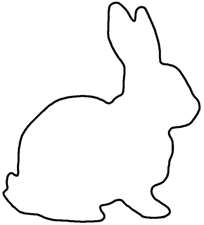 Bunny outline free download on jpg