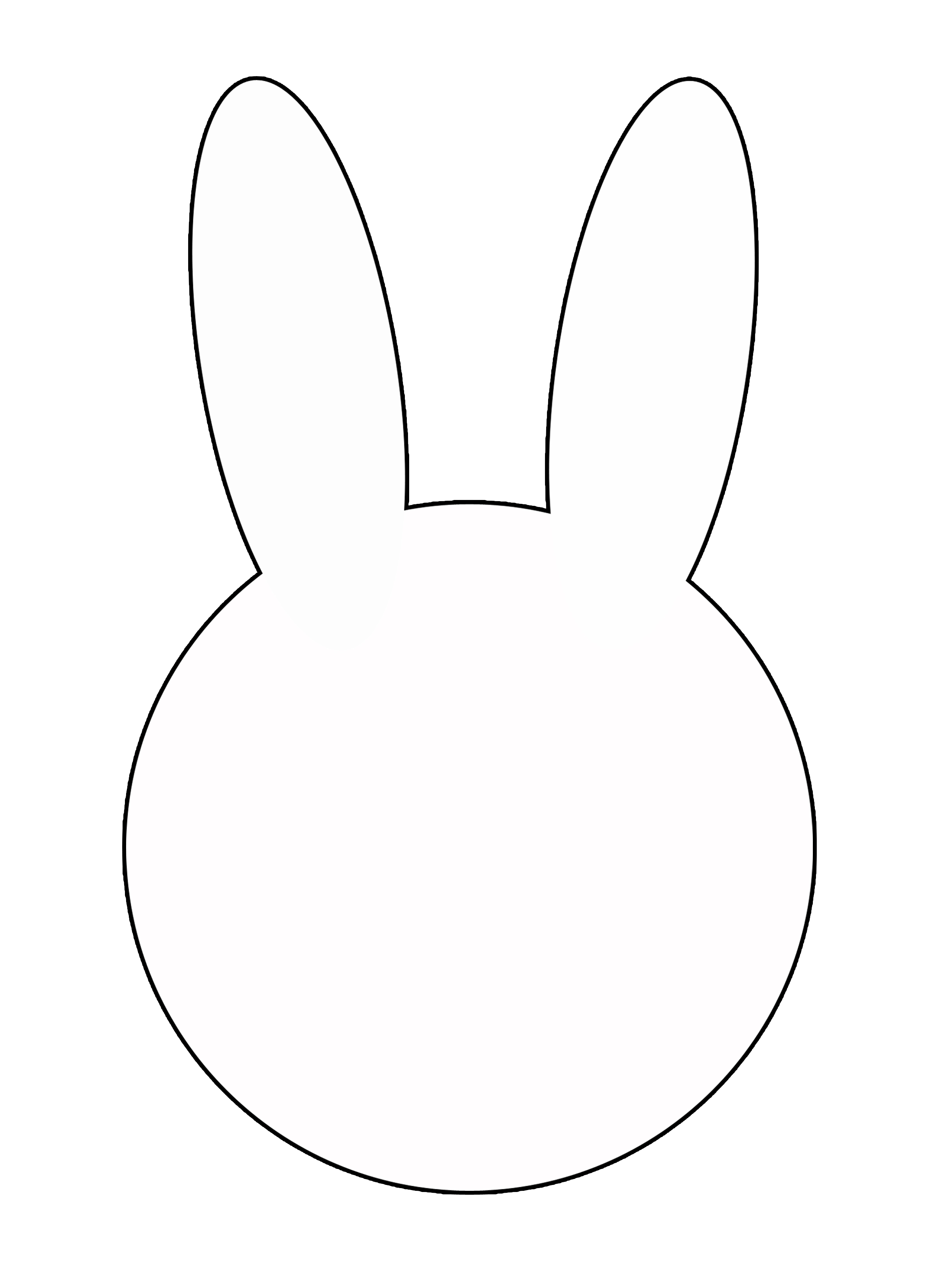 bunny outline Photos of bunny head outline printable template jpeg