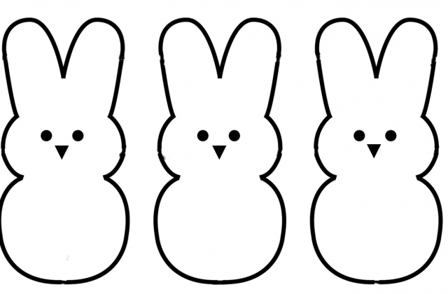 bunny outline Tag for easter bunny rabbit outline bunny rabbit template png
