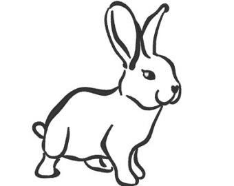 Bunny outline free download on jpg 3