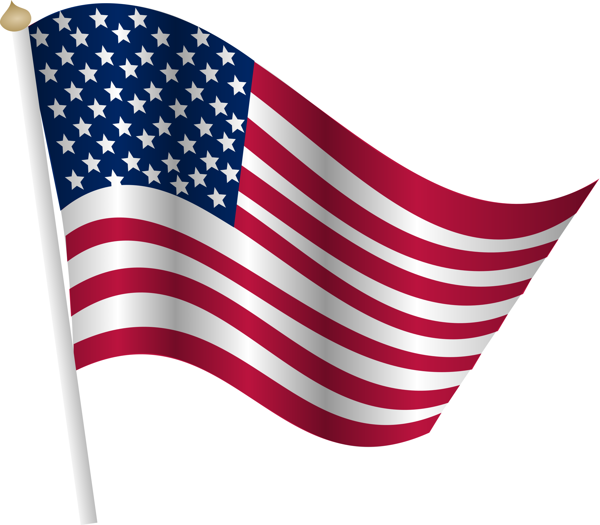 cartoon american flag Clipart american flag png