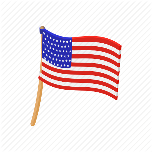 cartoon american flag American cartoon flag independence july pole usa icon icon png