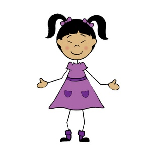 cartoon girl Children cartoon clipart image asian girl stick figure jpg