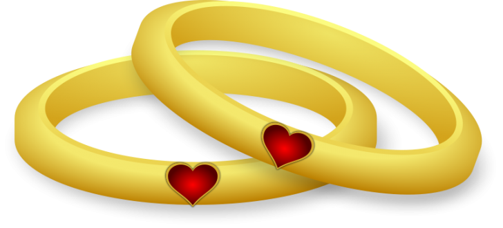 Cartoon wedding rings png