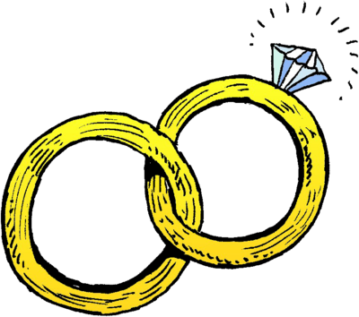 Cartoon wedding rings jpg