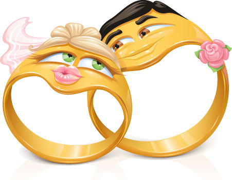Vector cartoon wedding rings free vector download free jpg