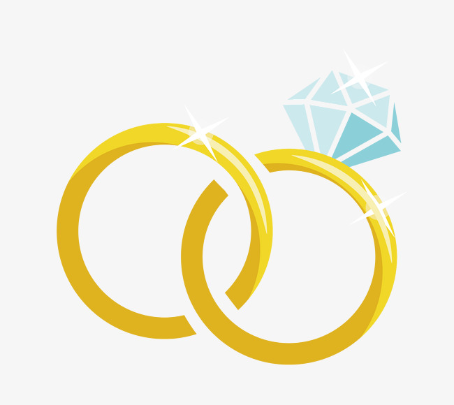 cartoon wedding ring Cartoon vector material diamond wedding ring ring vector jpg