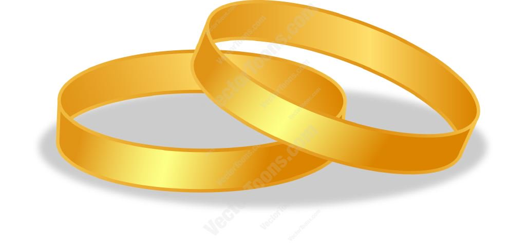 cartoon wedding ring Gold wedding rings cartoon clipart vector toons jpg