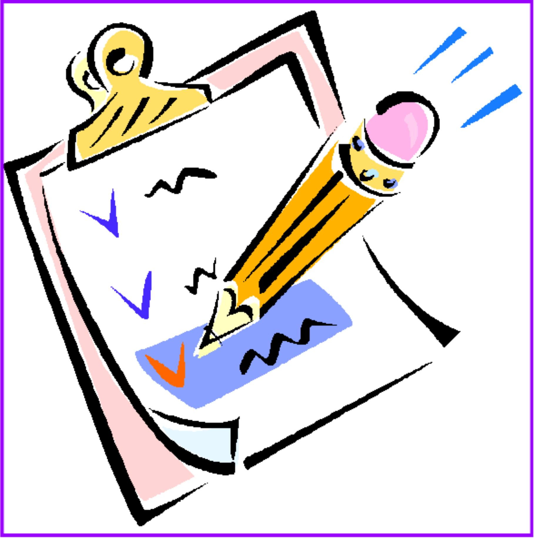 Check clipart checklist pencil and in color check jpg