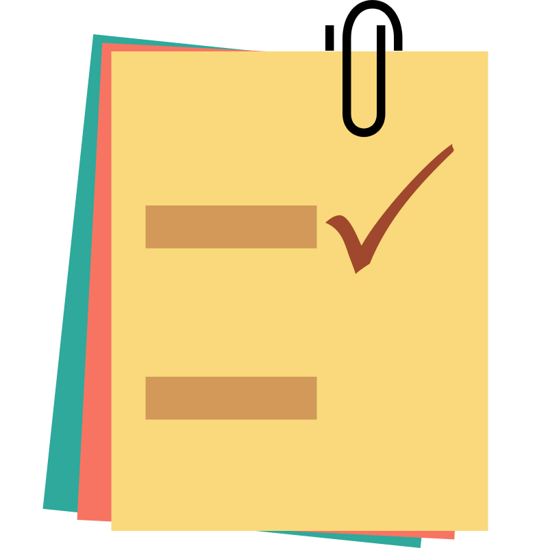 Checklist note notes clipart the cliparts png