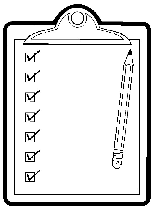 Checklist clipart black and white letters format jpg