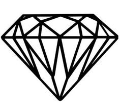diamond drawing Drawn diamonds shining diamond pencil and in color drawn jpg