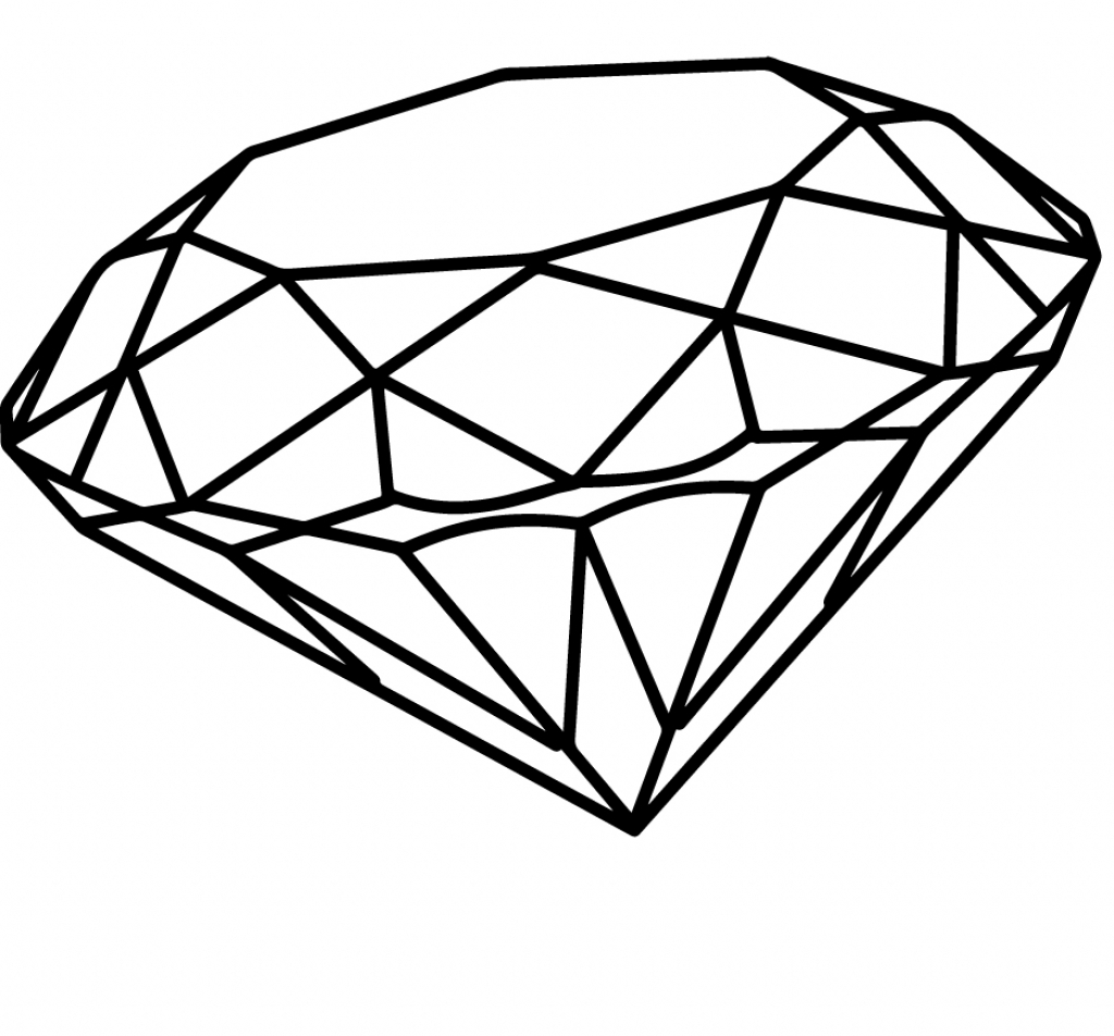 diamond drawing Drawing of a diamond simple how to draw youtube jpg
