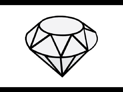 diamond drawing How to draw a diamond easy step by jpg