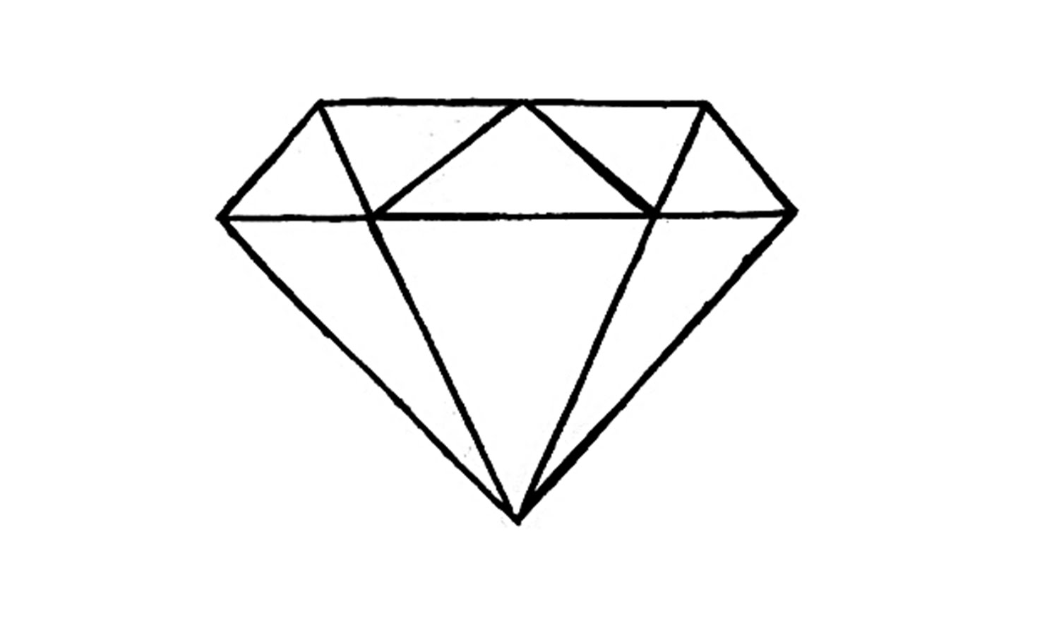 diamond drawing How to draw a diamond easy youtube jpg