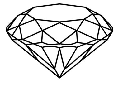 diamond drawing Drawn diamond realistic pencil and in color drawn jpg