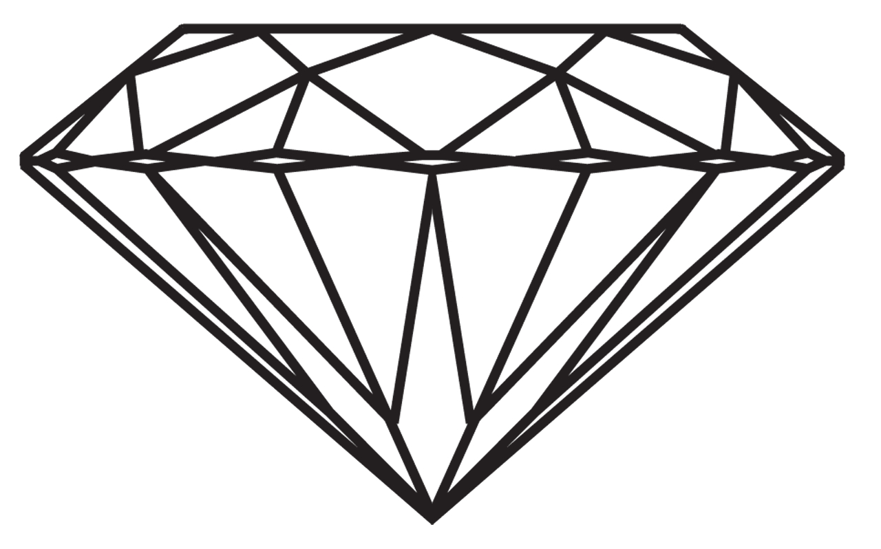 diamond drawing A drawing of diamond tumblr things to draw png