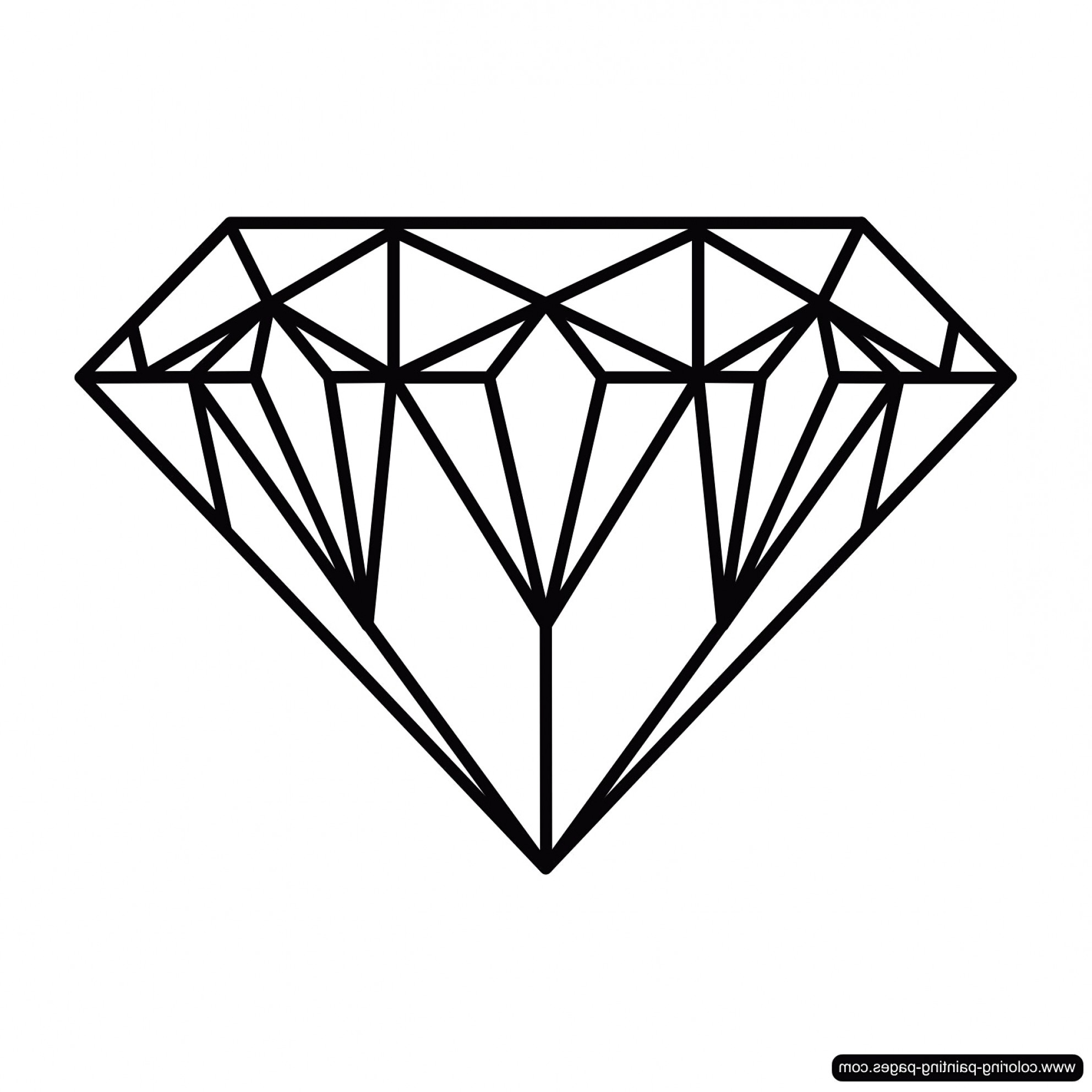 diamond drawing Drawing of a diamond art ideas prepossessing diamonds drawings for jpg