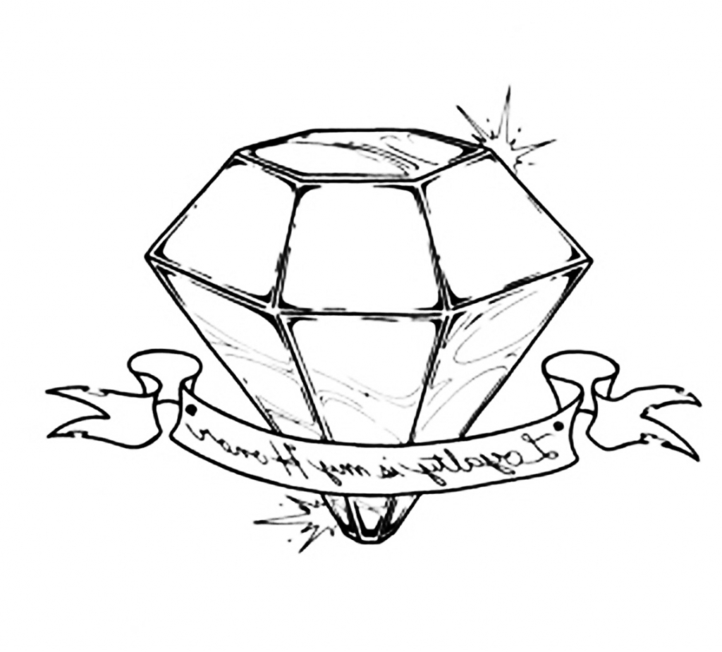 How to draw a 3d diamond drawing jpg