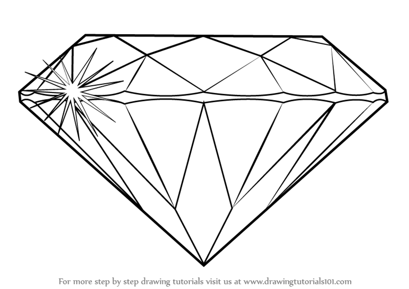 diamond drawing Learn how to draw a diamond everyday objects step by png