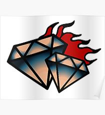 Cool diamond drawing posters redbubble jpg 2