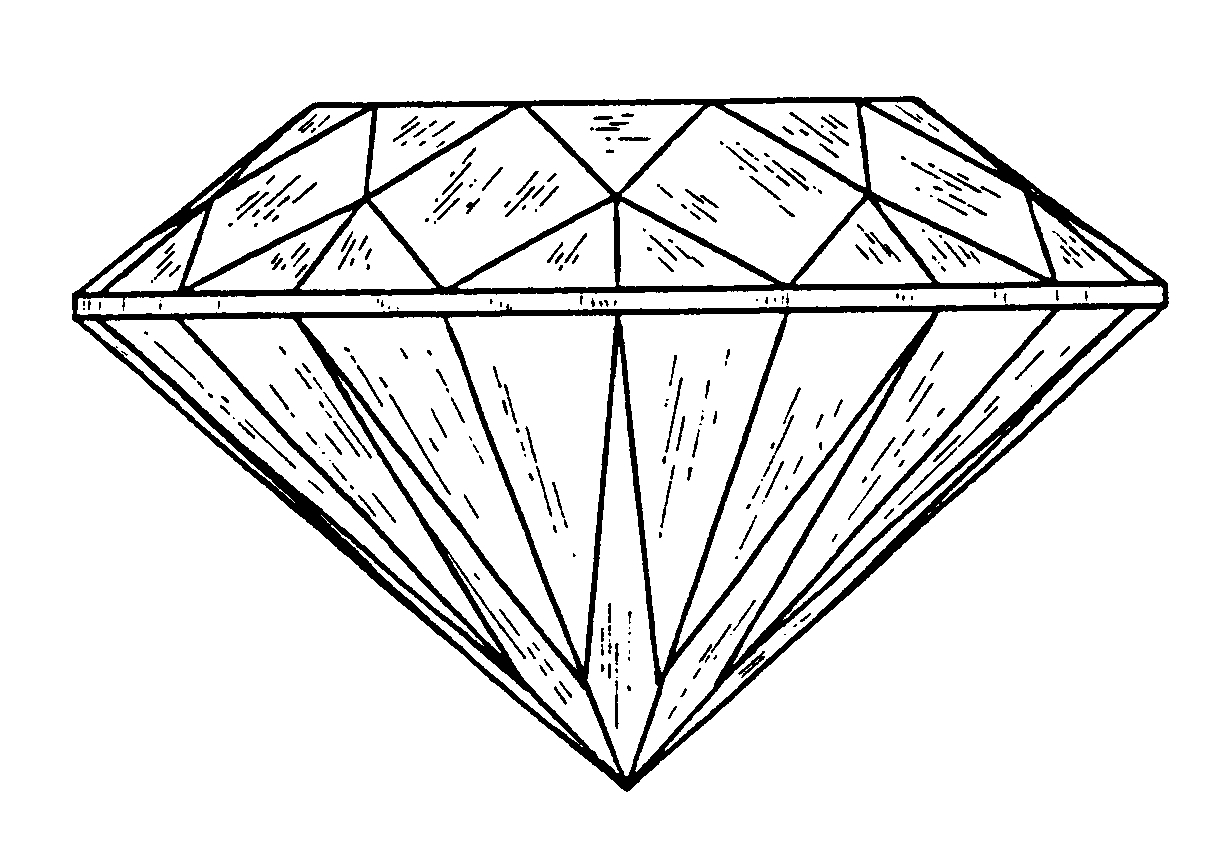 Simple 3d diamond drawing space cameltooth artistic jpg