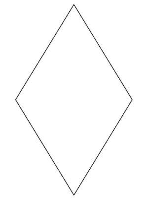 diamond drawing A diamond amon shape to learn draw jpg
