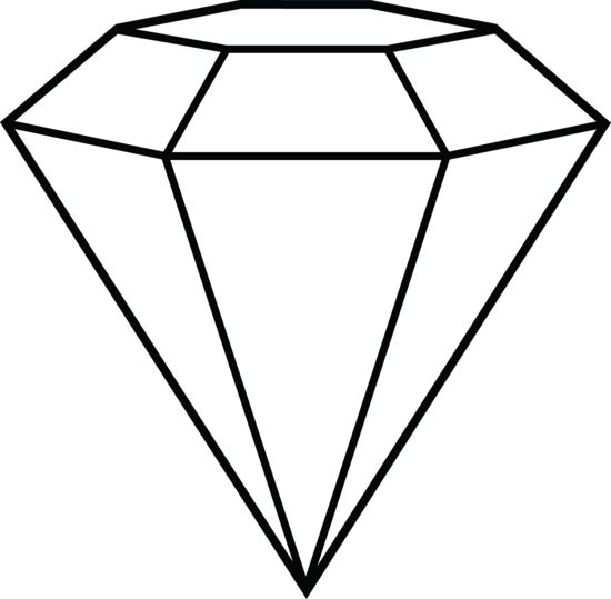 Diamond drawing clipart jpg