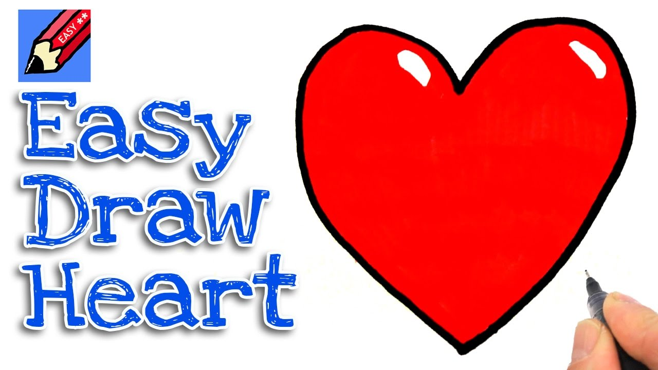 Real heart how to draw a real easy for kids and beginners jpg