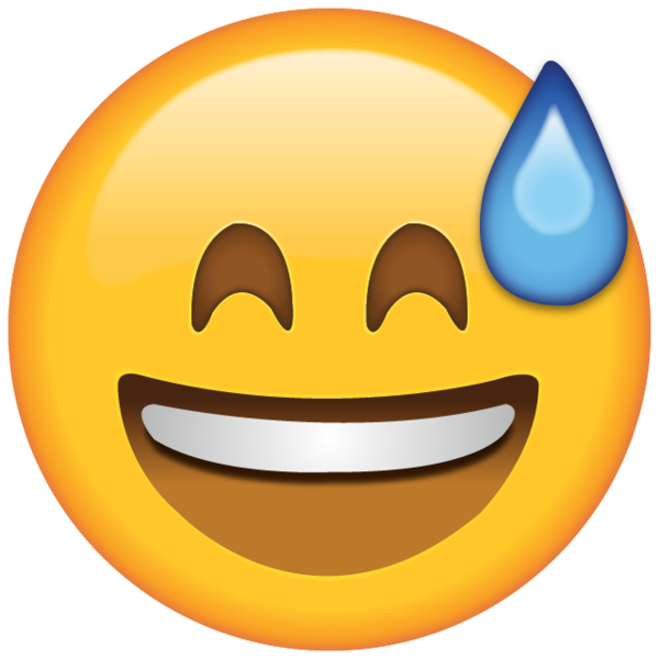 emoji transparent Download smiling with sweat emoji island png
