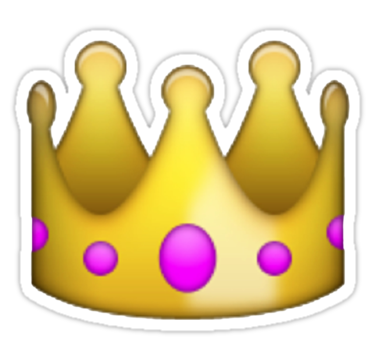 emoji transparent Tumblr transparent stickers emoji crown just because png