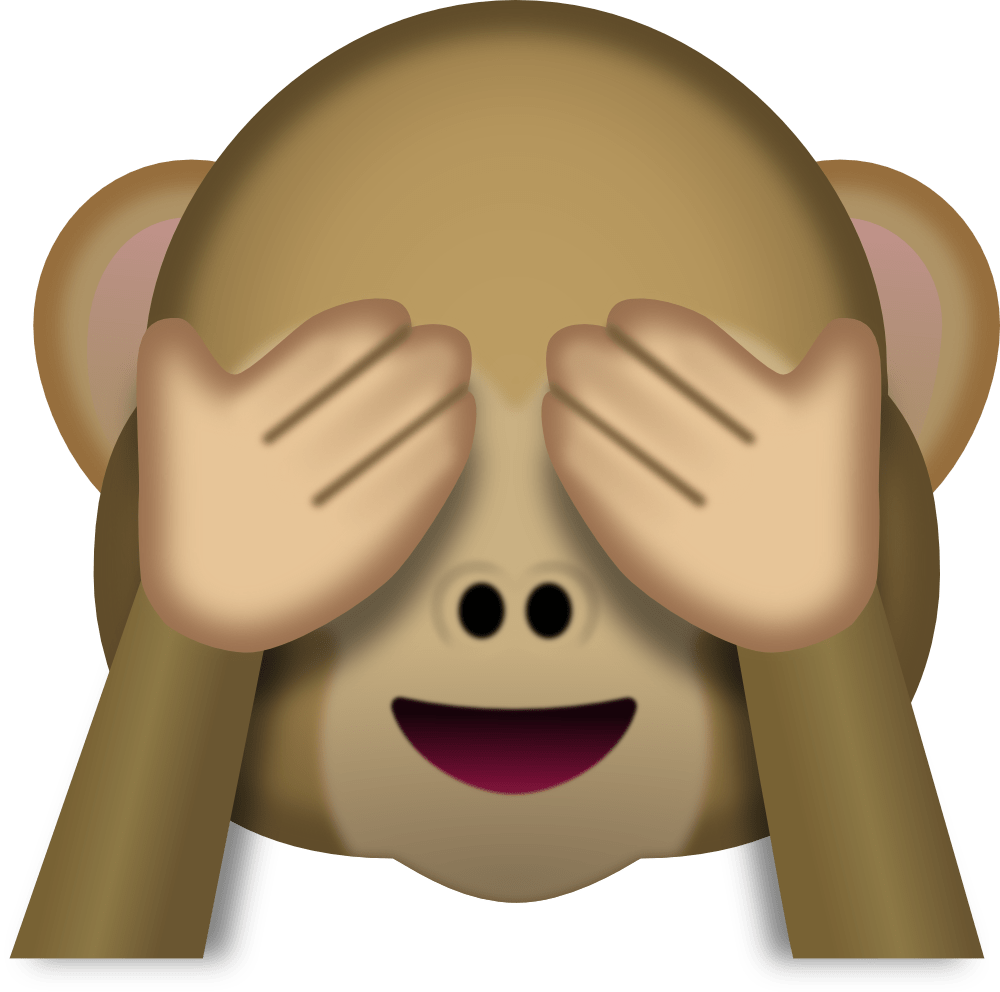 Monkey face emoji transparent stick png