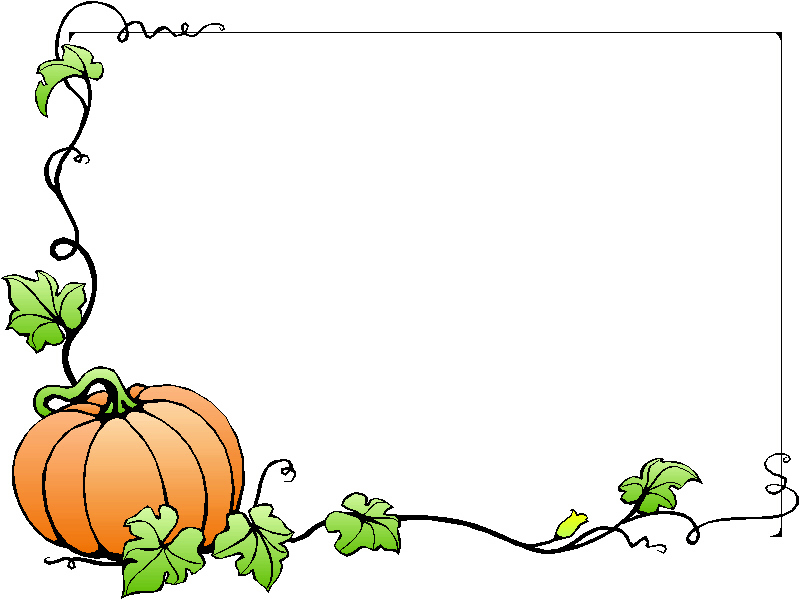 fall border Fall clipart frames pencil and in color fall jpg
