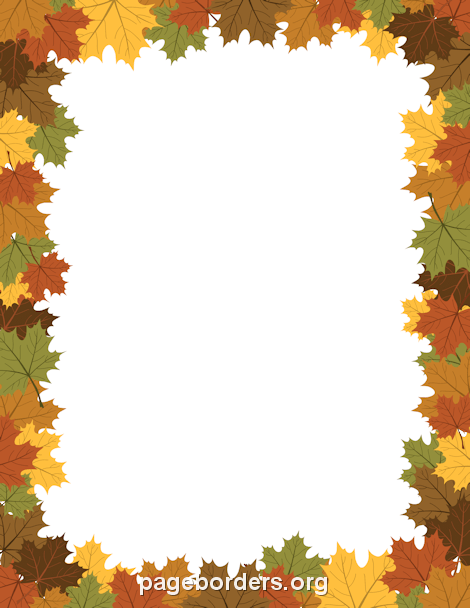 Free fall borders clip art page and vector graphics png