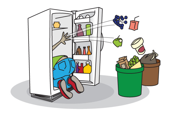 fridge Cleaning out refrigerator clipart jpg