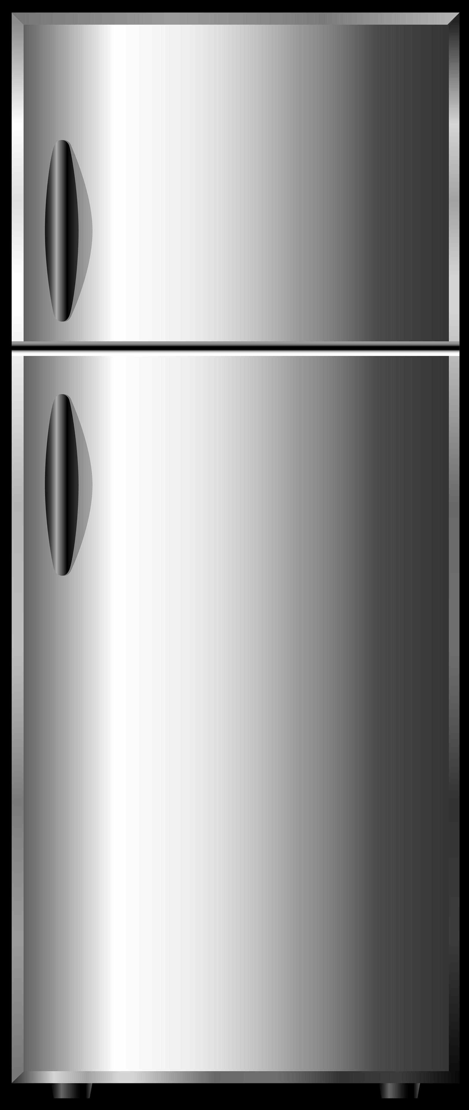 fridge Art vector illustration grey opened refrigerator stock jpg