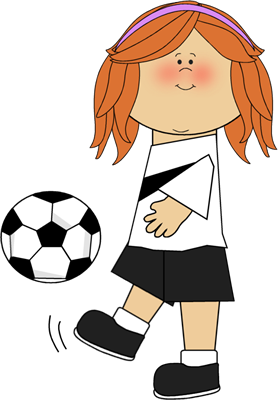 girls playing Cute soccer relationships girl player clip art soccer png