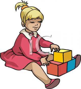 girls playing Clipart picture of a small girl playing with blocks jpg