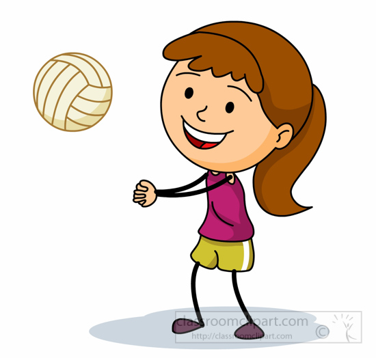 girls playing Volleyball clipart girl playing volleyball bump pass jpg