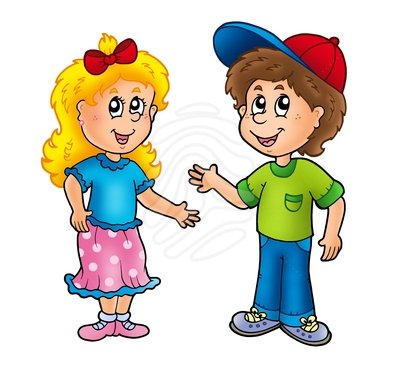 girls playing Boy and girl clipart jpg