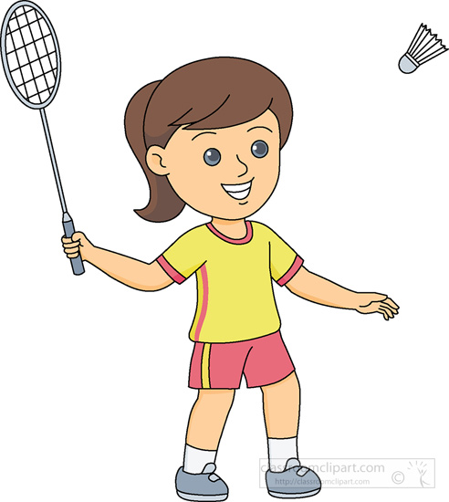 girls playing Badminton clipart girl playing badminton 1 jpg