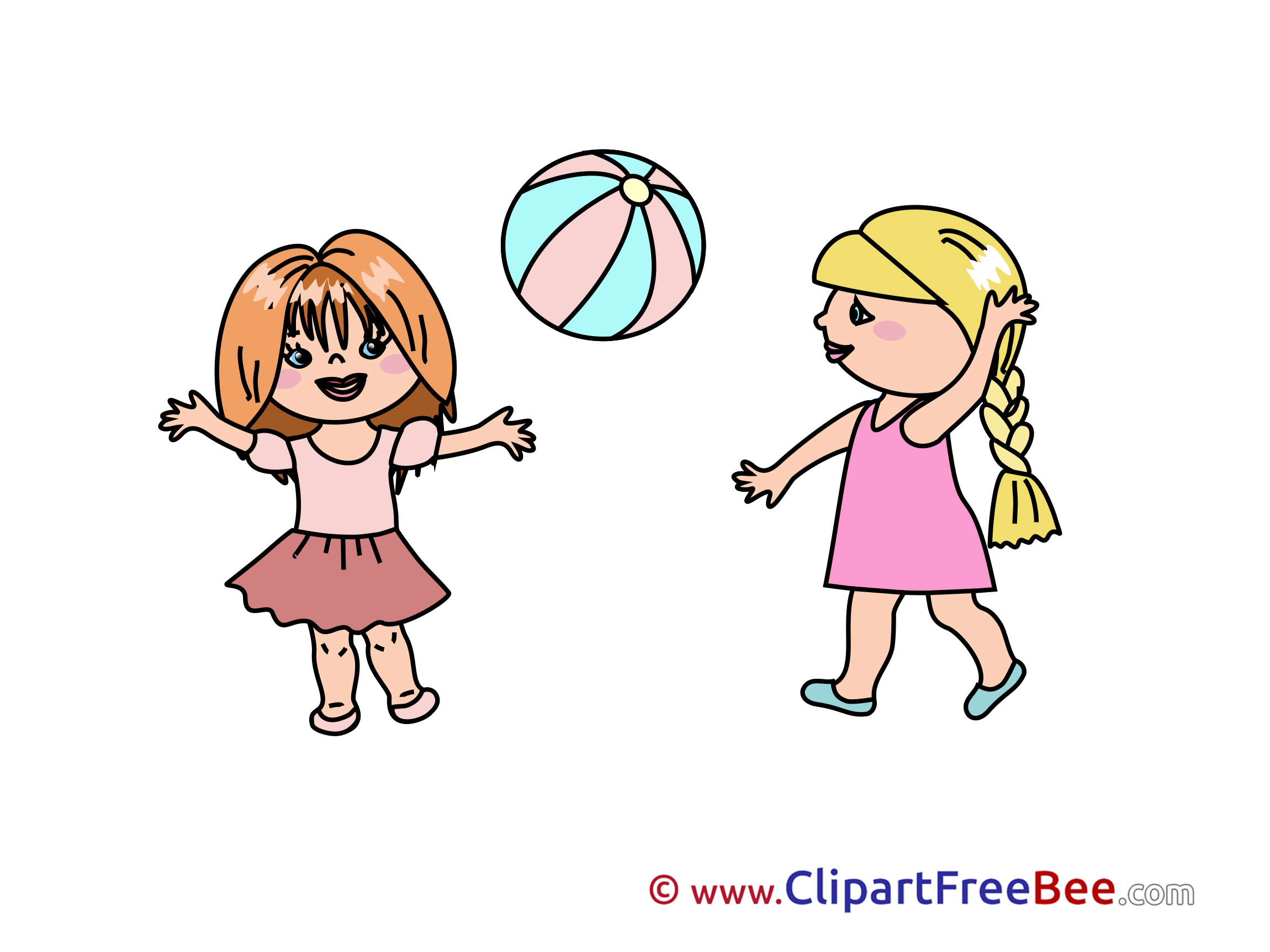 girls playing Kindergarten clip art images in high resolution for free png