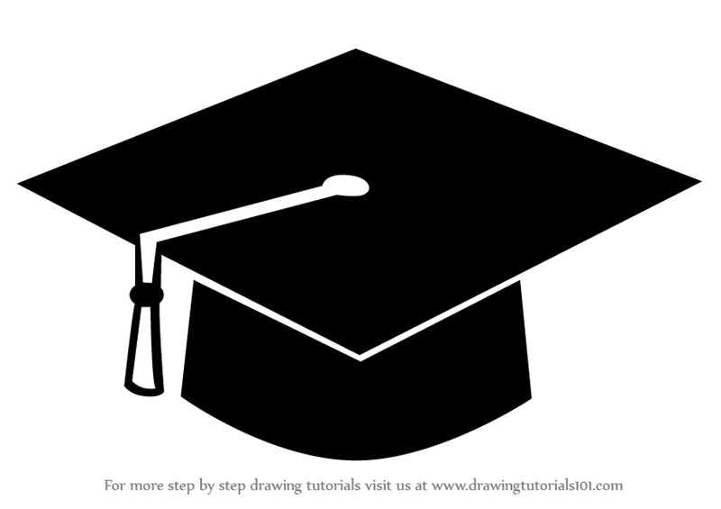 graduation drawings Learn how to draw a graduation cap hats step by drawing png